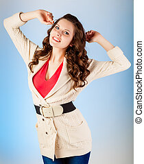 Woman is posing