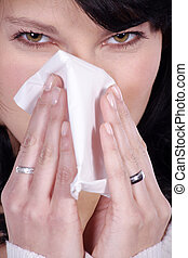 woman is sick