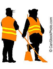 Woman janitor