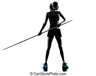 woman Javelin thrower silhouette