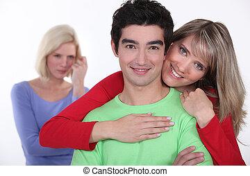 Woman jealous of couple
