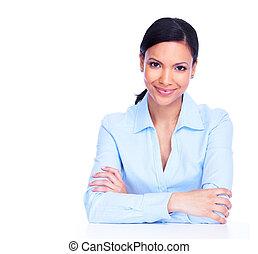 woman., jeune, business