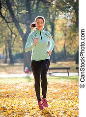 Woman jogging in nature