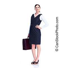 woman., jovem, negócio