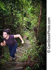 Woman Jungle Hiker