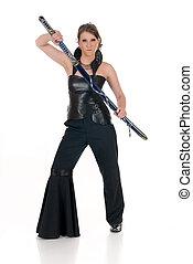 Woman Katana sword.