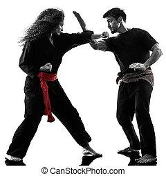 woman Kung Fu Pencak Silat isolated
