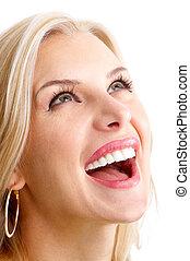 woman, lächelt