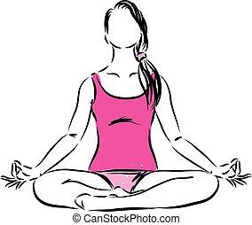 woman lady fitness vector illustration