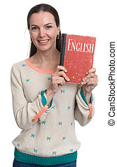 woman learning english