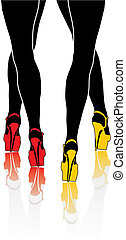 woman legs - vector illustration