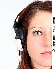 Woman listening to her favorite music