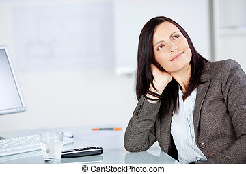 Woman looking at something