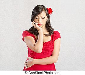 Woman Looking Sad