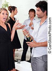 Woman looking surprised