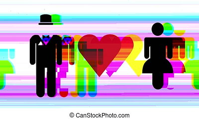 woman love male man people signs icons - a sequence made...