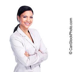 woman., młody, handlowy