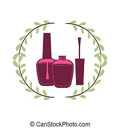 Woman make up icon vector illustration graphic design