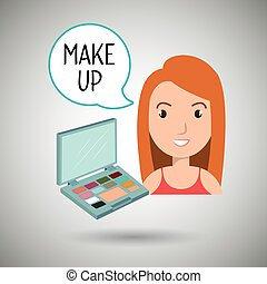 woman make up cosmetic