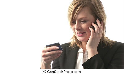 Woman Making a Credit Card Booking