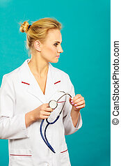 woman medical doctor with stethoscope