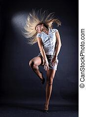woman modern dancer in action