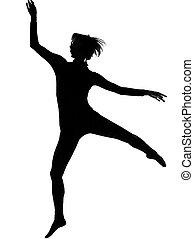 woman modern dancing