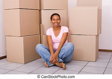 woman moving home