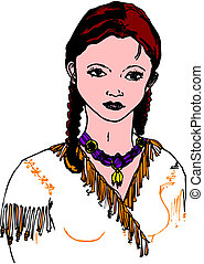 Woman native American Indian