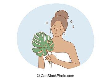 Woman natural beauty concept
