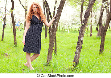 woman near a tree