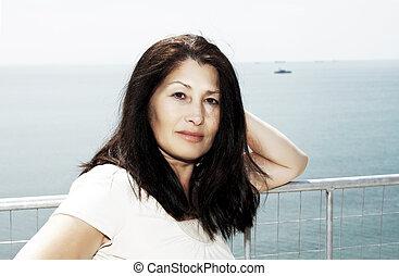 Woman near the sea