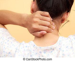 Woman neck pain