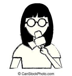 woman news reporter character