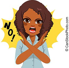cartoon woman saying no stock illustration images 62 cartoon woman rh canstockphoto com no clip art in outlook 2016 no clip art in office 2013