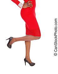 woman., nogi, closeup, dół