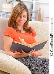 woman olvas, könyv