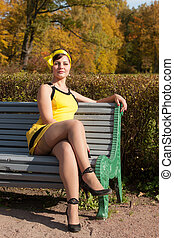 woman on a bench