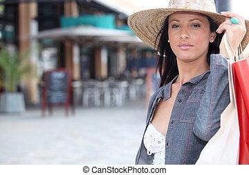 Woman on a shopping trip