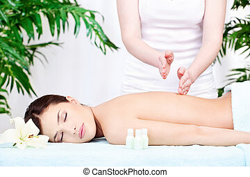 Woman on back massage
