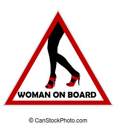 Woman on board sign