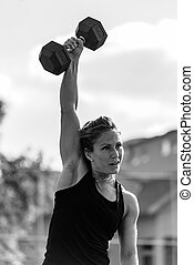Woman on cross competition