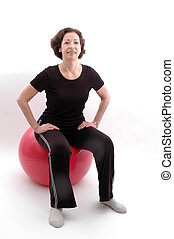 woman on fitness ball 938