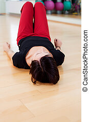 Woman on floor