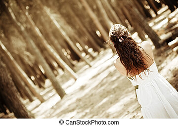 Woman on forest