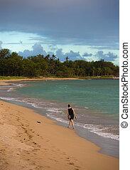 Woman on Kihei Beach