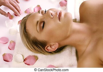 Woman on massage