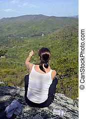 Woman on Mountain Overlook