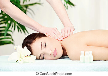 Woman on neck massage