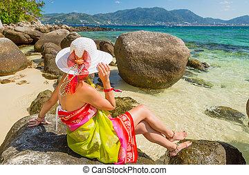 Woman on Paradise Beach
